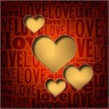 Carte mignonne de Valentine Photographie stock