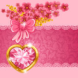 Carte mignonne de valentine Photo libre de droits