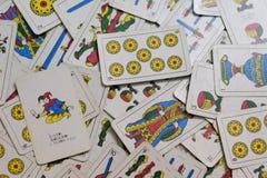 Carte mischiate frantumate Fotografia Stock Libera da Diritti