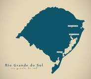 Carte moderne - BR Brésil de Rio Grande do Sul illustration libre de droits
