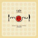 Carte moderne de menu de café Photo libre de droits