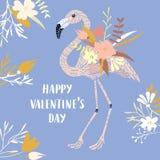 Carte moderne de Valentine Photographie stock libre de droits