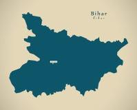Carte moderne - le Bihar DANS l'illustration d'État fédéral d'Inde illustration de vecteur