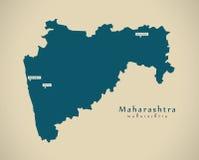 Carte moderne - maharashtra DANS l'illustration d'État fédéral d'Inde illustration de vecteur