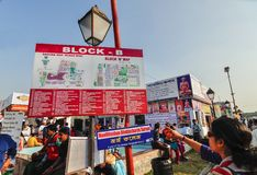 Carte moulue de la foire de livre de Kolkata - 2014 Images stock