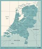 Carte néerlandaise - illustration de vecteur de vintage Image stock