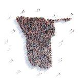 Carte Namibie de forme de groupe de personnes Photographie stock