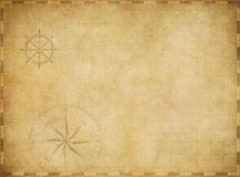 Carte nautique de vieux vintage vide sur le parchemin usé Photo stock