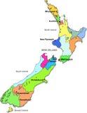Carte neuve de Zeland Image stock