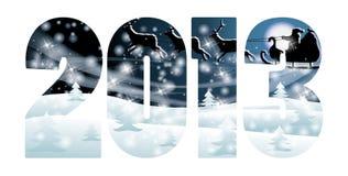 Carte neuve heureuse de 2013 ans Photo stock