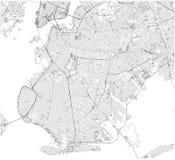 Carte, New York City, rues et secteur de Brooklyn LES Etats-Unis illustration de vecteur