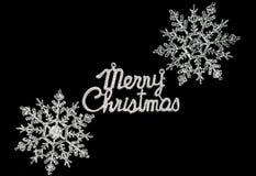 Carte noire de Joyeux Noël Photos stock
