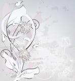 Carte noire et blanche d'invitation Photographie stock