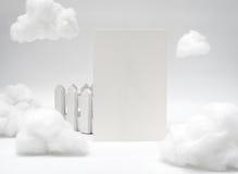 Carte nominative blanche de blanc de texture Image libre de droits