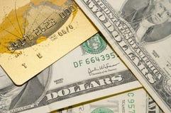 Carte ou argent comptant Image libre de droits
