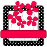 Cadre de points de polka avec des fleurs illustration de vecteur