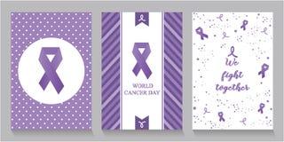 Carte ou fond de jour de cancer du monde Image libre de droits