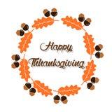Carte ou fond heureuse de thanksgiving illustration de vecteur