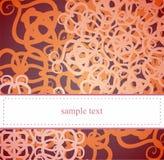 Carte ou invitation élégante avec le motif floral Images stock