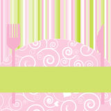 Carte ou invitation de dîner Photos libres de droits