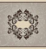 Carte ou invitation ornementale de renaissance illustration libre de droits