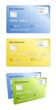Carte par la carte de crédit et de débit Photo stock