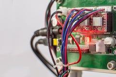 Carte PCB d'Arduino dispositifs faits maison photographie stock libre de droits