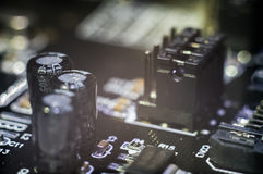 Carte PCB de carte mère d'ordinateur Photo libre de droits