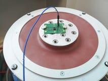 Carte PCB de l'électronique préparée pour l'essai de fiabilité photographie stock
