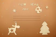 Carte pendant la nouvelle année Photos libres de droits