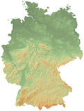 Carte physique de l'Allemagne Photo stock
