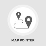 Carte Pin Flat Icon Photo libre de droits