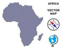 Carte pointillée de l'Afrique Illustration de Vecteur