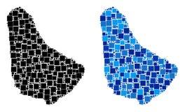 Carte pointillée des Barbade avec la version bleue Photos libres de droits