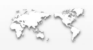Carte pointillée du monde Image libre de droits