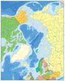 Carte politique d'océan arctique AUCUN texte Photographie stock