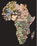 Carte politique de camouflage Photographie stock