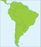 Carte politique de l'Amérique du Sud Photos stock