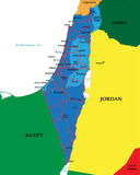 Carte politique de l'Israël Photos libres de droits