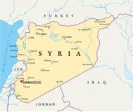 Carte politique de la Syrie illustration de vecteur