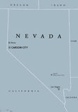 Carte politique de Nevada United States Photo libre de droits