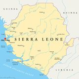 Carte politique de Sierra Leone Photo libre de droits