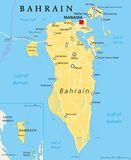 Carte politique du Bahrain illustration stock