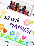 Carte polonaise de jour de mères Image libre de droits