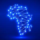 Carte polygonale abstraite de l'Afrique Image libre de droits