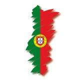 Carte Portugal de vecteur Images stock