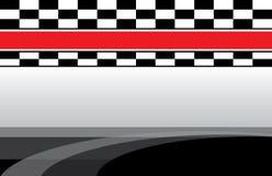 Carte postale à carreaux d'insecte d'événement de drapeau de jour de course Image libre de droits