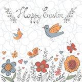 Carte postale élégante de Pâques Photographie stock