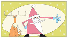 Carte postale 1 de Noël illustration stock