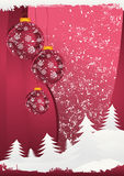 Carte postale 5 de Noël Images libres de droits